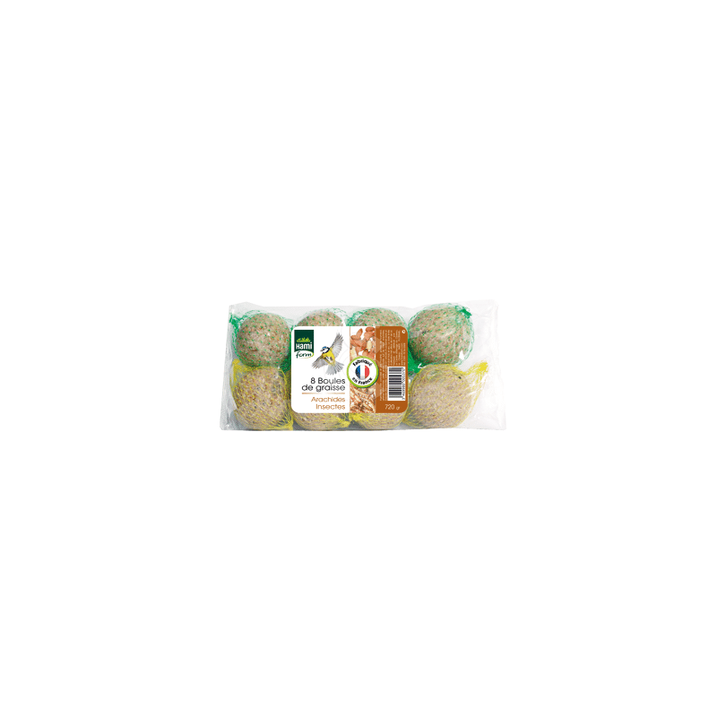Boules de graisse Arachides + Insectes