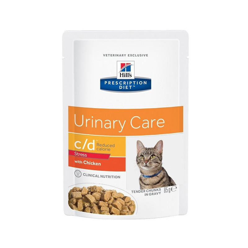 Feline C/D Urinary Stress Reduced Calorie Poulet sachet repas
