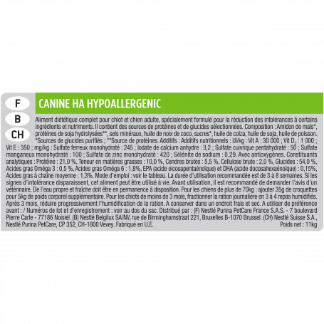 Ppvd Canine HA Hypoallergenic