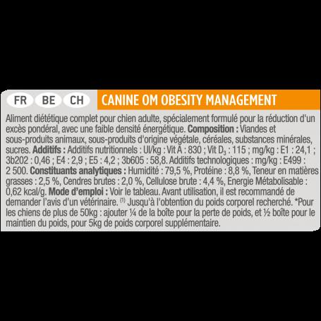 Ppvd Canine OM Obesity Boîte