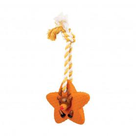 Jouet Noël chien : Lot de 3 étoiles en latex