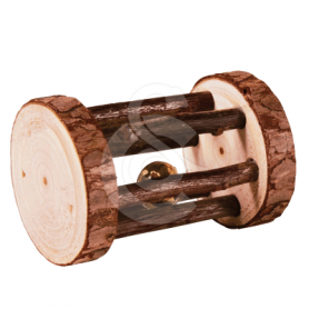 Jouet rongeur : rouleau de jeu en bois - Lg : 7 cm - D : 5 cm