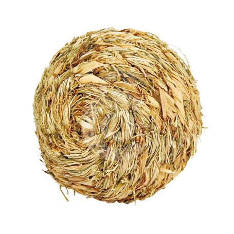 Jouet rongeur : balle en herbe séchée - D : 13 cm