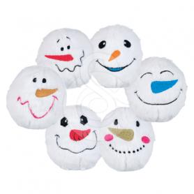 Jouet Noël chien : Lot de 6 peluches Boule de Noël