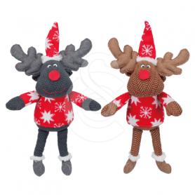 Jouet Noël chien : Lot de 6 rennes