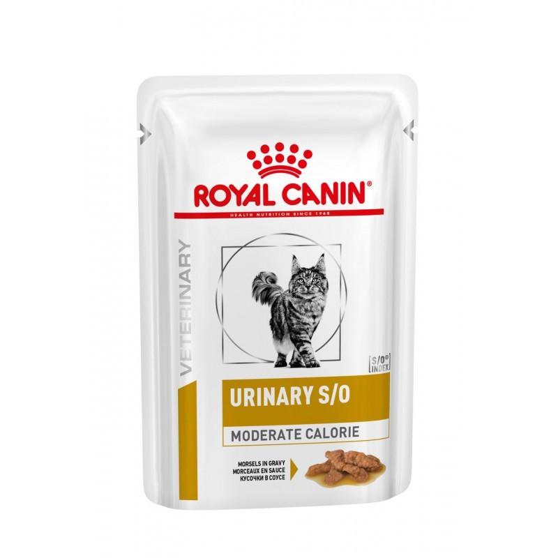 Cat Urinary S/O Moderate Calorie Morceaux Sachet repas - 12 sachets de 85 g
