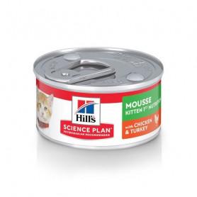Kitten Mousse 1ère Nutrition Poulet et Dinde Boîte