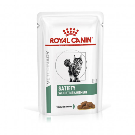 Veterinary Diet Cat Satiety Boîte de 12 sachets