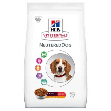 Vetessentials Adult Neutered Dog Medium Poulet
