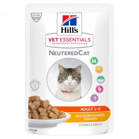 Vet Essentials Feline Young Adult Neutered Cat Po. Sachet r.
